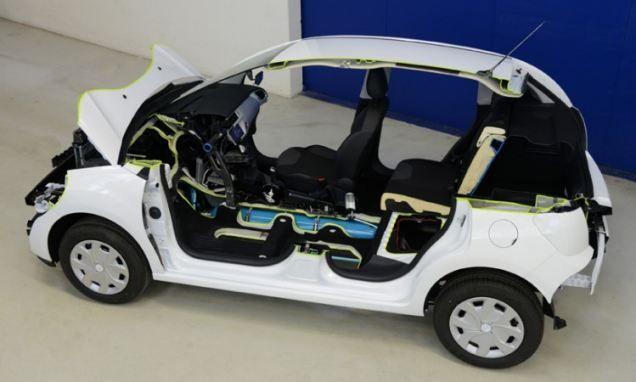 Peugot Citroen hybrid car that runs on air.