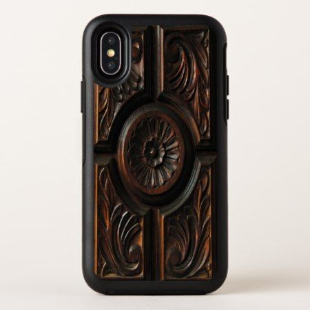 Brown Wooden Image OtterBox iPhone X Case - tap to personalize and get yours