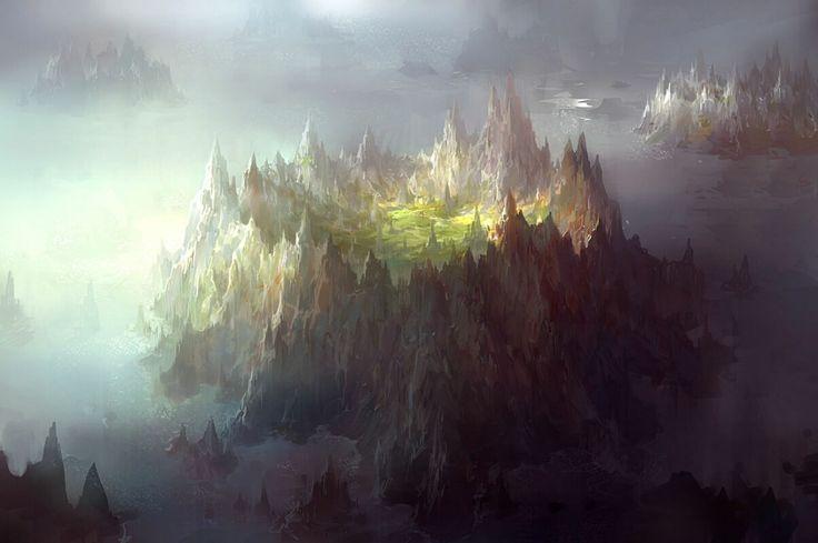 computergrafik landschaften | Alpha Coders | Wallpaper Abyss Fantasy Landschaft 91299
