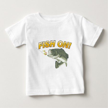 FISH-ON BABY T-Shirt - click/tap to personalize and buy