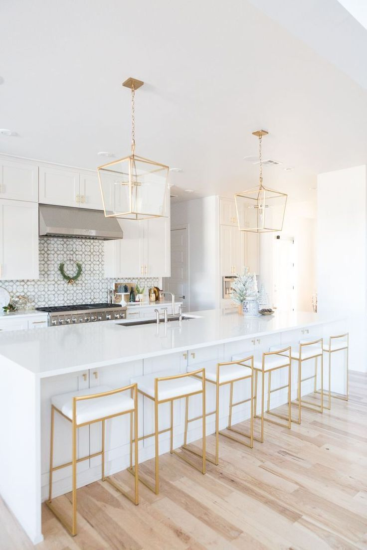 How To Design A Luxurious White And Gold Kitchen  White kitchen