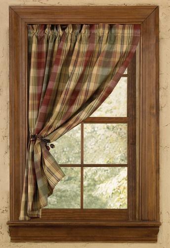 "New curtains master basthroom Window/Curtain- Tier Pair/Unlined - 24"" L - Park Designs - Saffron   eBay"