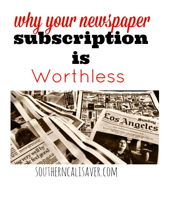 Why your newspaper subscription is worthless