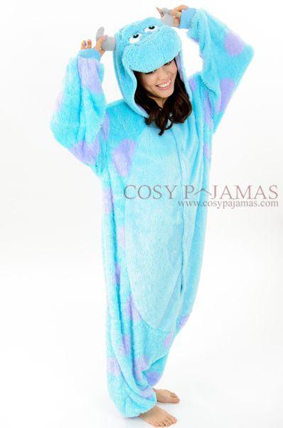 Monsters Inc. Sulley kigurumi Onesie Pajama Costume
