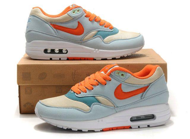 Nike Air Max 1 Vrouwen LichtBlauw Berken Oranje