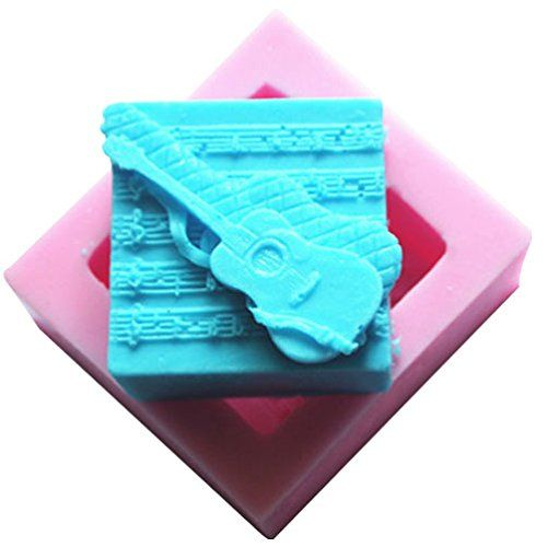 Lingmoldshop Guitar Craft Art Silicone Soap mold DIY Candy mould Craft Molds Handmade Candle molds >>> Click image to review more details.
