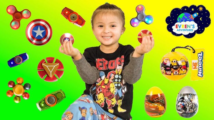 Thanks for joining Evren Adventures Toys Review in this NEW RARE FIDGET SPINNER CHALLENGE GAMES! Surprise Eggs Disney Car 3 Transformer Minions Surprise Toys. Evren have lots of fun playing with some of the rare Superhero fidget spinners like Captain America, Iron Man, and the latest light up Spinzipz. Evren and her mummy also have a fun testing out the squishy sticky animals and opening the Transformer and Disney Cars 3 surprise eggs, Minions Mineez series 1 collectors.