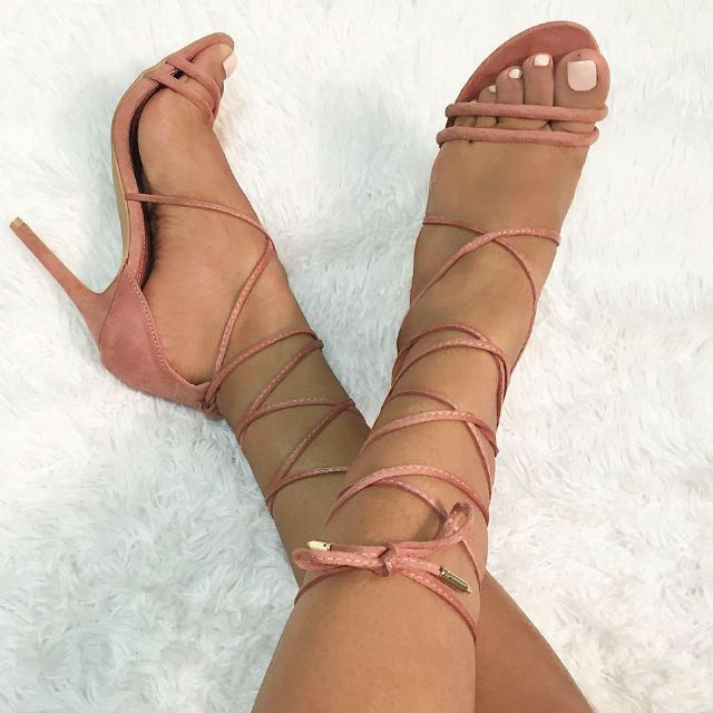 Lace up heels are always sexy!