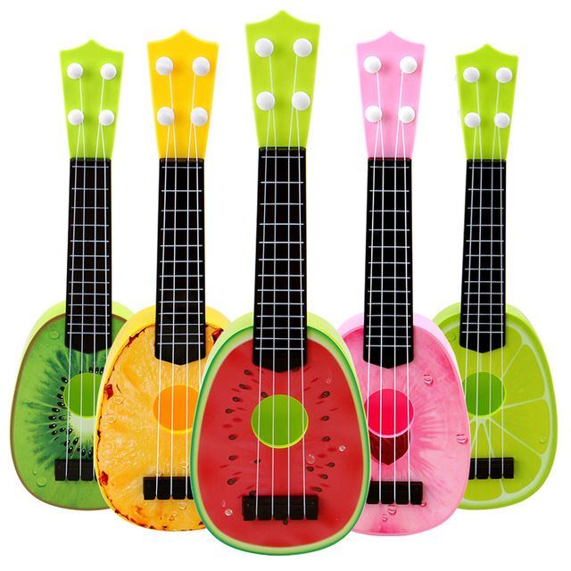 Baby Musical Ukulele 4 Strings Fruit Guitar Learning Educational Plastic Instrument Toys instrumentos musicais for Children