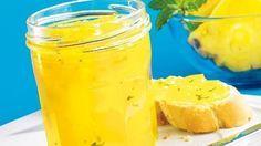 Ananas als Konfitüre mit Minze schmeckt erfrischend!