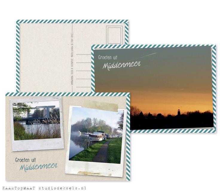 Studio Deksels - KAARTopMAAT - ansichtkaart - groetjes uit