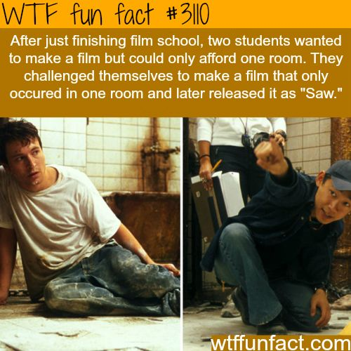"WTF fun fact #3110 ~ The two students who made the ""Saw"" film."