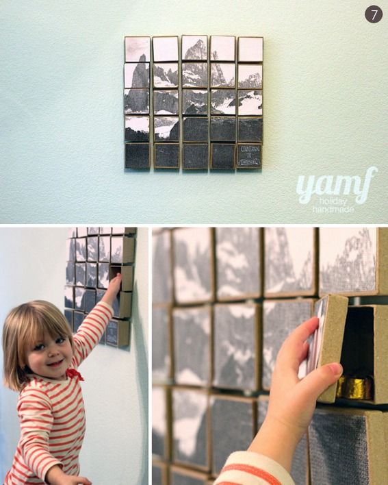14 modern #DIY advent calendars and holiday countdown projects!