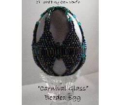 Carnival Glass Beaded Egg Pattern at Sova-Enterprises.com