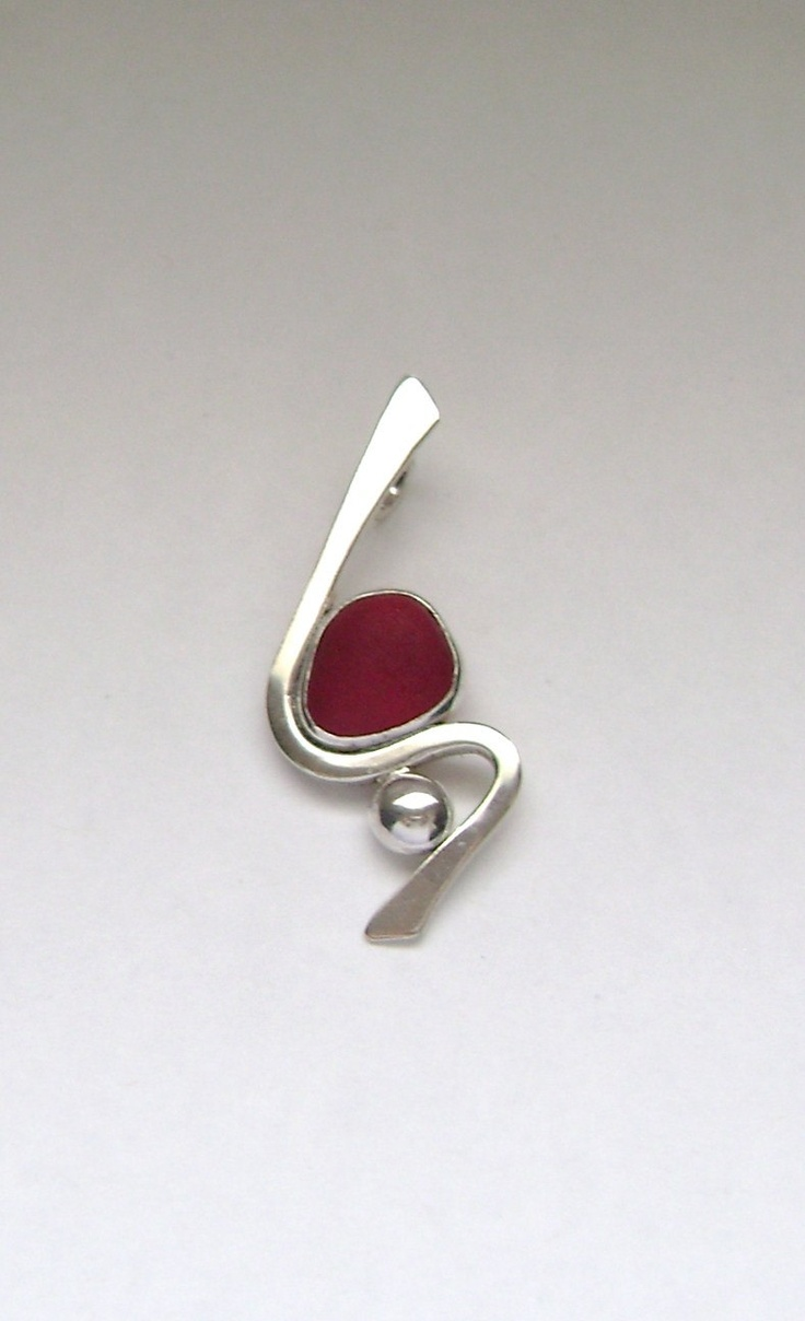 Sea Glass Jewelry  Extremely Rare Red English Sea by SignetureLine, $150.00