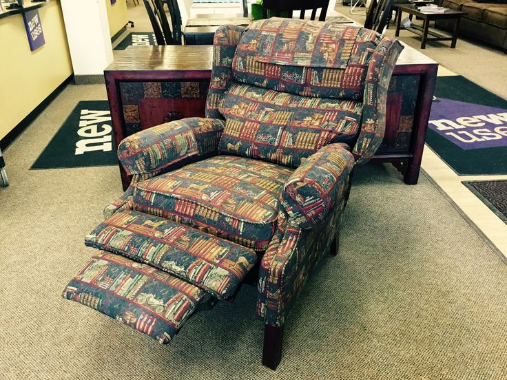 FIND NAME BRAND FURNITURE FOR LESS AT NEW USES: Reclining BarcaLounger wingback chair in excellent condition- $140. Open until 6pm daily!