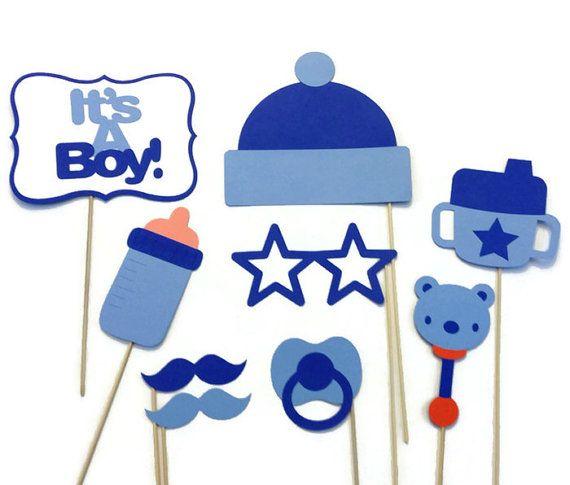 Junge Baby Dusche Photo Booth  9 Stück Foto von CraftingbyDenise
