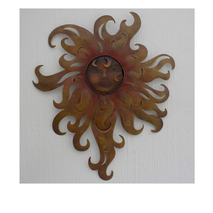 Lady of the Sun Indoor Outdoor Rustic Sculpture (Mexico)