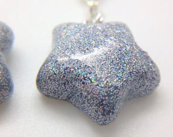 Schattige handgemaakte polymeer klei sterren charme: Sakura