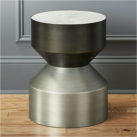 silo metal drum side table | CB2