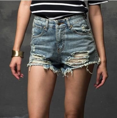 2016 Summer Women New High Waist Denim Shorts
