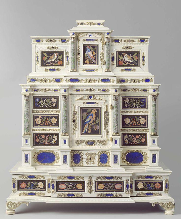 Kabinet met pietre dure plaquettes, anoniem, 1660.