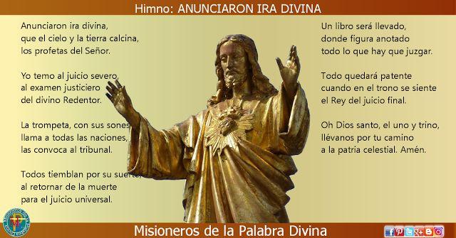 MISIONEROS DE LA PALABRA DIVINA: HIMNO LAUDES - ANUNCIARON IRA DIVINA