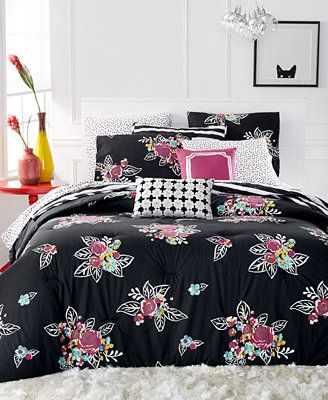 Martha Stewart Collection WHIM Night Blooms 4 PC Twin/Twin XL Comforter Set
