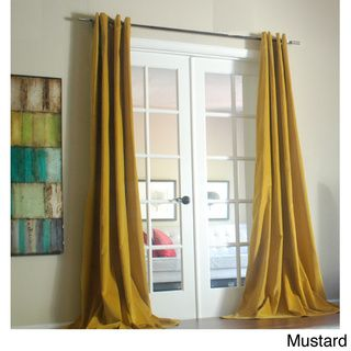 @Overstock.com -  Tao Cotton Velvet 96-Inch Curtain Panel - This elegant cotton velvet panel features a rich tone in a smooth fabric that will offer a soft dramatic look. The heavy weight fabric is pleasing to the touch and will lend a beautiful rich accent to your room.  http://www.overstock.com/Home-Garden/Tao-Cotton-Velvet-96-Inch-Curtain-Panel/8448218/product.html?CID=214117 $89.99