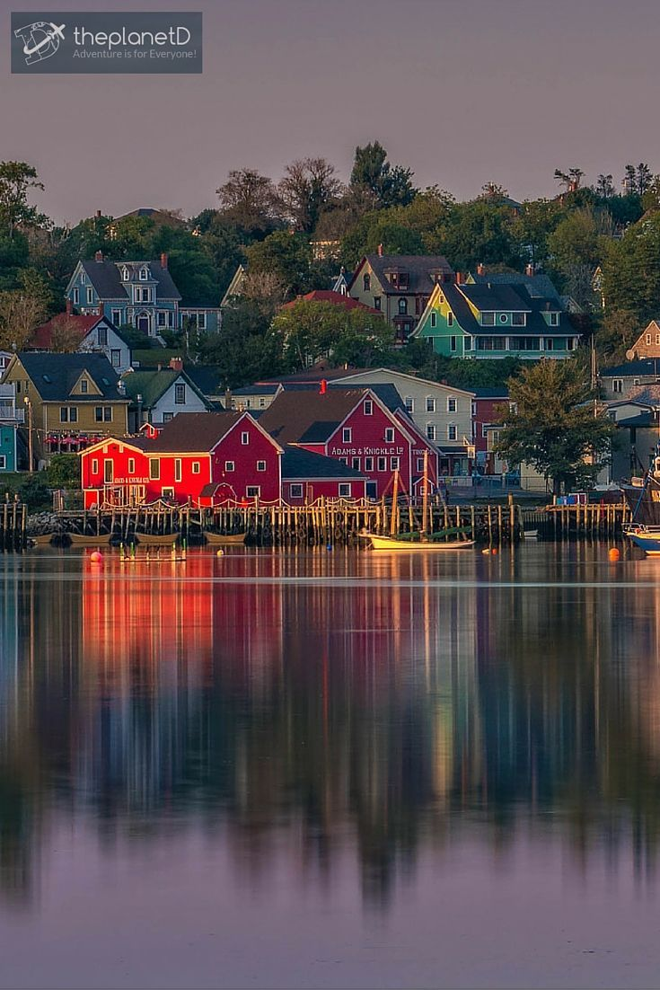 Sunset in Lunenburg, Nova Scotia | Lunenburg is a UNESCO World Heritage Site and probably one of the most well-known towns in Nova Scotia | The Planet D Adventure Travel Blog: