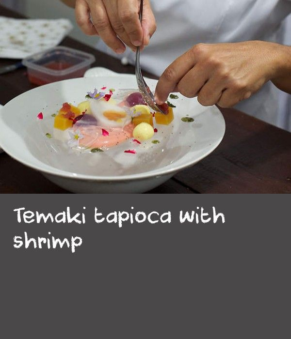 """Temaki tapioca with shrimp 