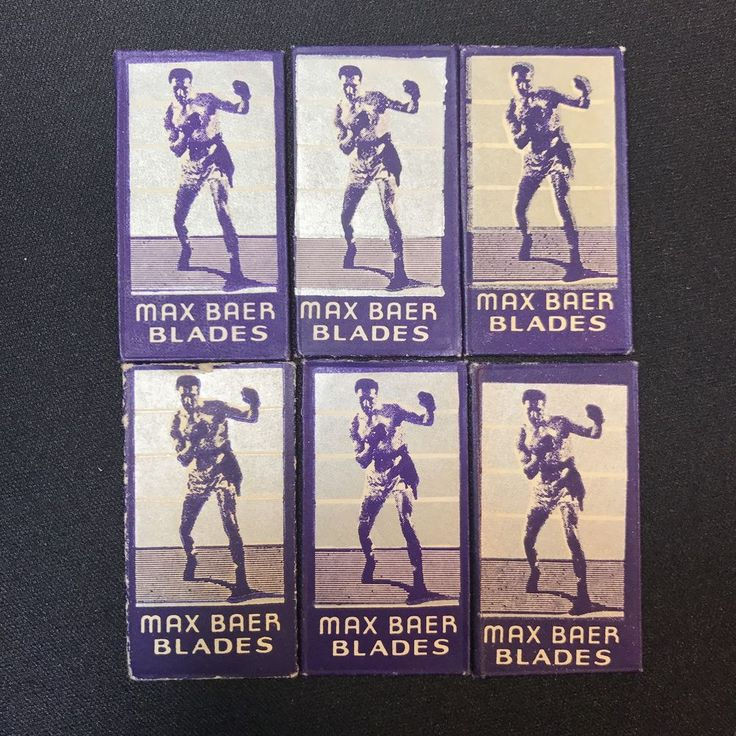 1930s World Champion Max Baer Razor Blade NOS Lot of 6 Boxer Boxing    eBay