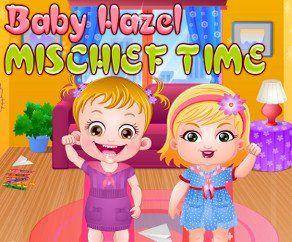 Малышка Хейзел Время Шалостей, http://www.babyhazelworld.com/game/malyshka-hjejzjel-vrjemja-shalostjej. Малышка Хейзел та еще шалунишка. Она притворяется, что спит и, как только мама уходит из дома, они с подружкой Мией начинают проказничать