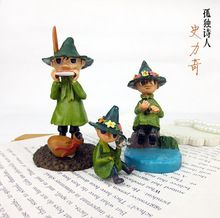 Moomin Valley micro landscape history Ricky moss fleshy DIY resin home decoration souvrnir(China (Mainland))