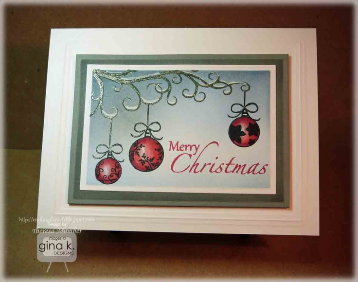 Superb Card Making Ideas Gina K Part - 8: Crafting The Web: Winter Ornaments Card Making Tutorial