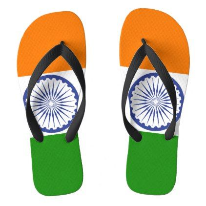 #National Flag of India Flip Flops - #womens #shoes #womensshoes #custom #cool