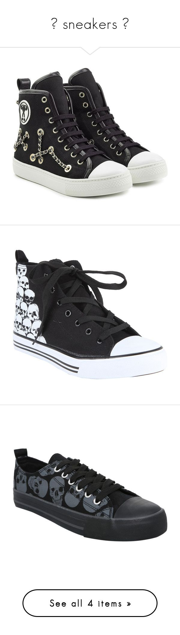 """""""🖤 sneakers 🖤"""" by emo-narwhalz ❤ liked on Polyvore featuring shoes, sneakers, black, black lace up shoes, moschino sneakers, embellished sneakers, black leather high tops, black high-top sneakers, men's fashion and men's shoes"""