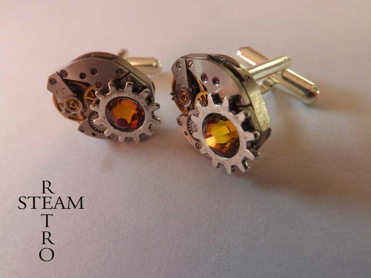 Badass boutons de manchette réducteurs-up steampunk - hommes boutons de manchette - accessoires steampunk - boutons de manchette de mariage : Bijoux pour hommes par steamretro