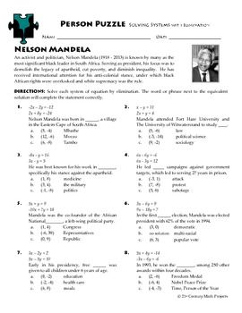 Number Names Worksheets » Algebra Puzzle Worksheets - Free ...