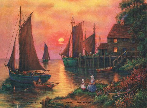 The Return of Sunset Calendar Art by RedfordRetro on Etsy, $10.00