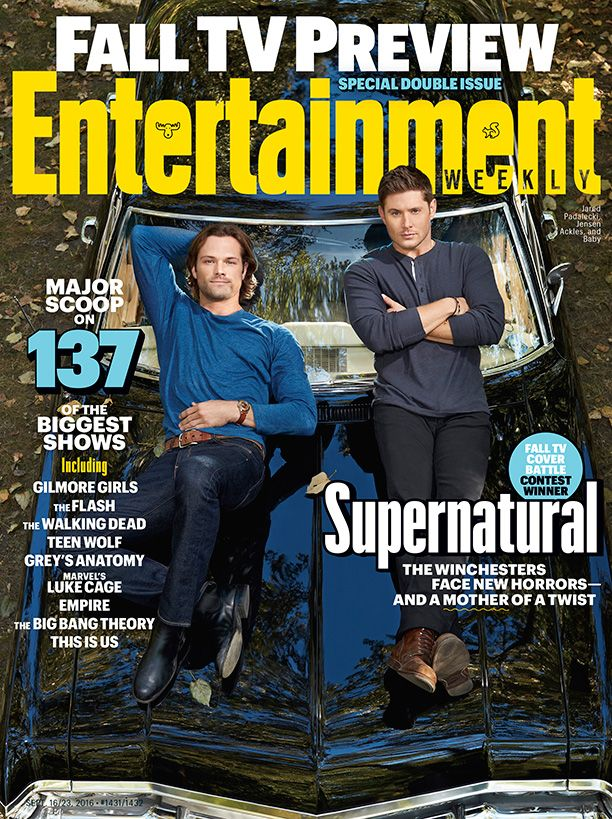 The #EWCoverBattle #Supernatural cover is HERE! Photo credit: Matthias Clamer for EW