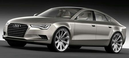 Audi Sportback Concept pre-Detroit leaked images preview upcoming Audi A7 four-door coupe