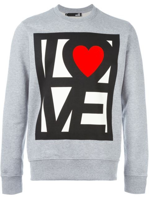 Love Moschino толстовка с принтом 'love'