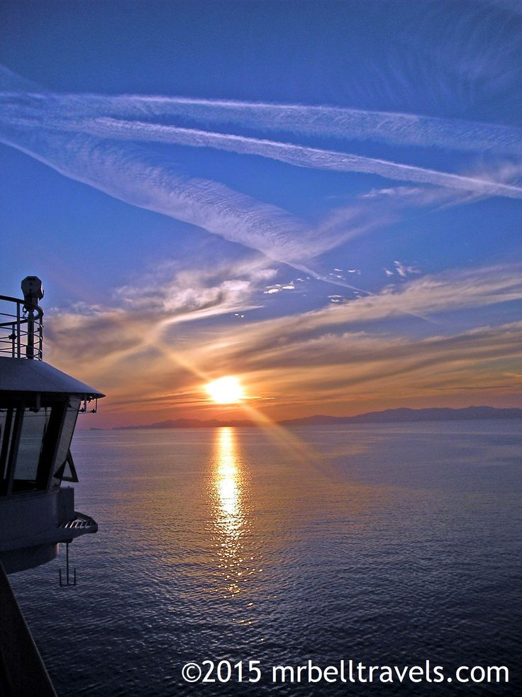 Sunset from the deck of the Seabourn Quest off the coast of Turkey www.mrbelltravels.com