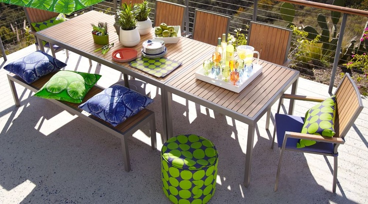 Alfresco Natural Dining Collection 2012 I Crate and Barrel