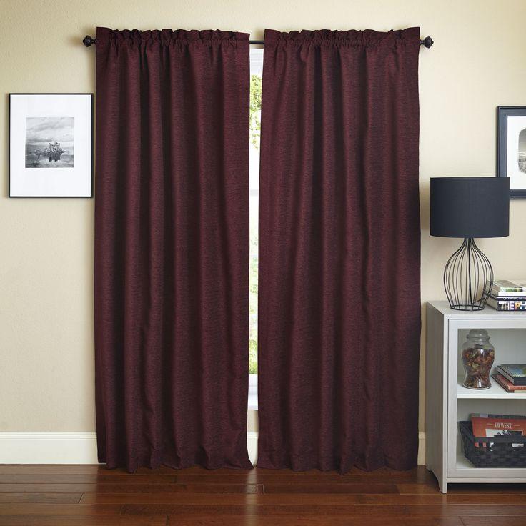 Blazing Needles U0027Bordeauxu0027 Patterned Jacquard Chenille Curtain Panels (Set  Of 2) (