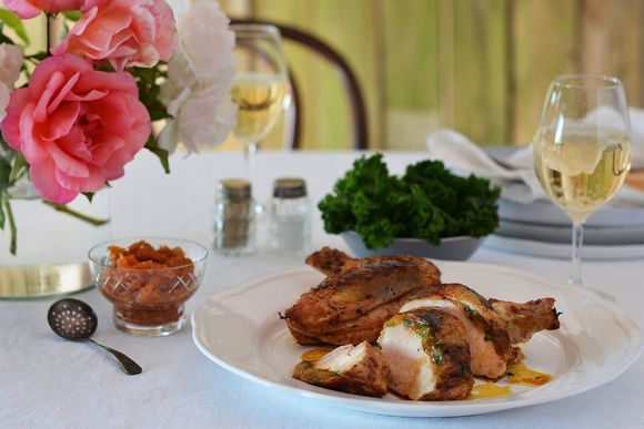 Maggie Beer's Mustard Pear Stuffed Chicken Breast