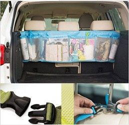 Signstek Trunk Car Interior Removable Backseat Organizer Storage for Kid Accessories Toys Stuff etc.—Help you Arrange Everything You Need — Perfect for Cars, Trunk, Van and Suv