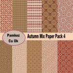 Autumn Mix Paper Pack 4