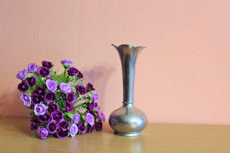 Vintage Norwegian BM Pewter Vase, Norway Brodrene Mylius Scandinavian Viking Design Bud Vase by Grandchildattic on Etsy